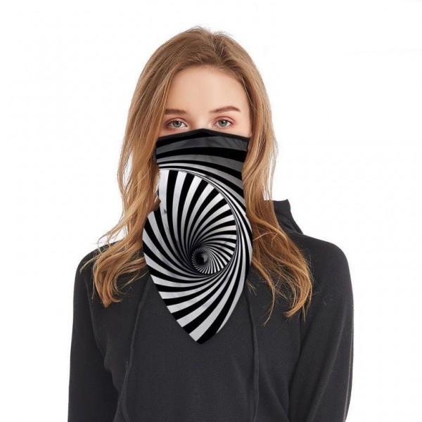 Schlauchmaske aus Stoff mit 3D Spirale, Farbe schwarz-weiss, ohne Filter