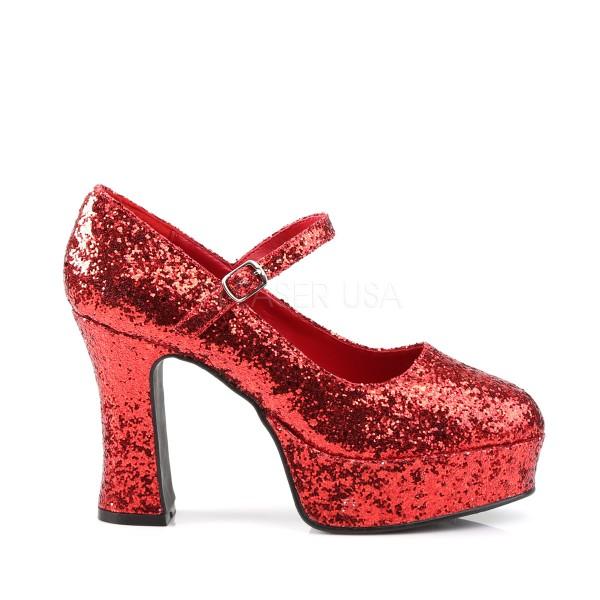 Plateau Schuhe Fur Frauen Rot Mit Glitzer Atop Ag