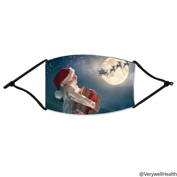 Stoffmaske strahlendes Kind mit Sternenhimmel, mit Filter