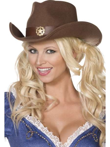Cowboyhut mit Stern, braun