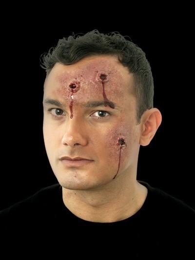 Gummiteil Schussverletzung