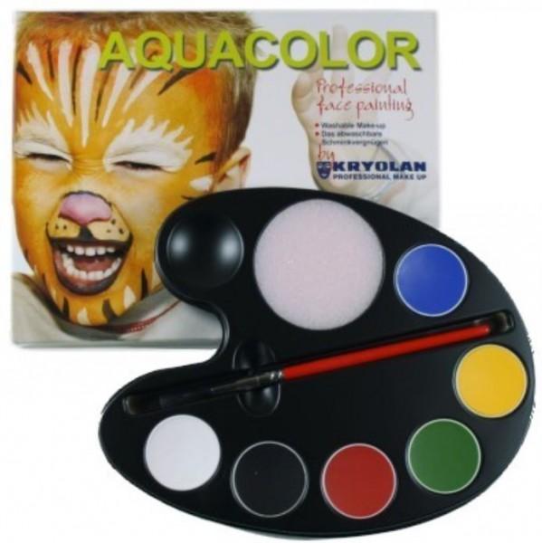 Kryolan Aquacolor 6er Ovalpalette