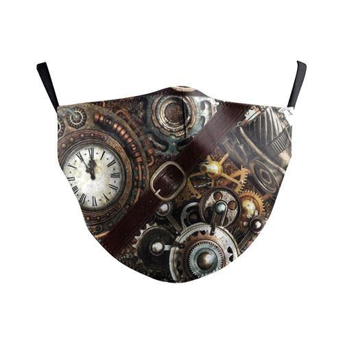 Stoffmaske Steampunk 5 vor 12, mit Filter