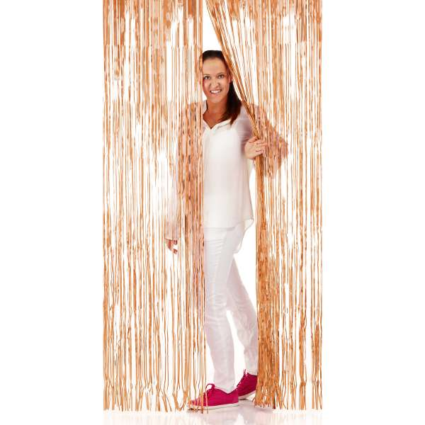 Folienvorhang rosé gold, 1 m breit, 2 m lang