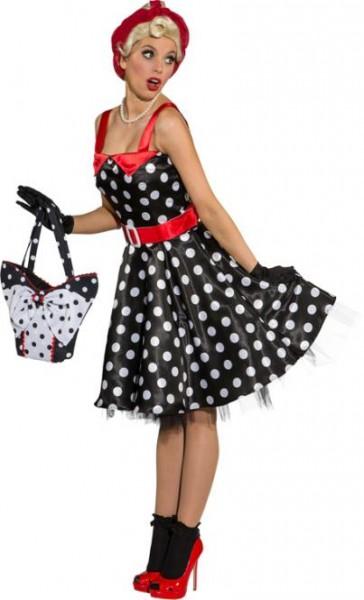 58dd44eb4e7ccd Rock`n Roll Kleid, schwarz mit weissen Punkten