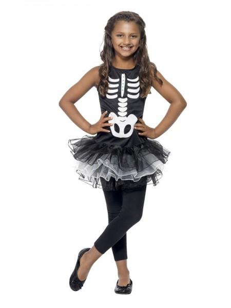 Kinderkostüm Skelett Tutu
