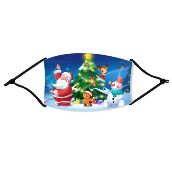 Stoffmaske Weihnachtsbaum mit Nikolaus, mit Filter