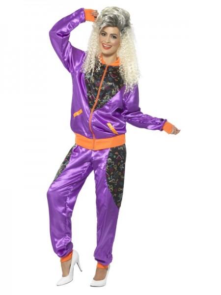 80er Trainingsanzug, violett
