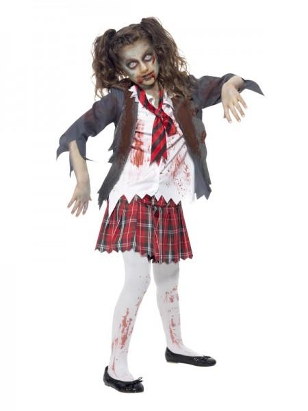 Kinderkostüm Zombie Schulmädchen