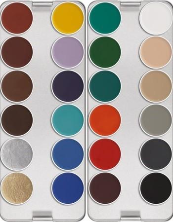 Kryolan Aquacolor 24er Palette K