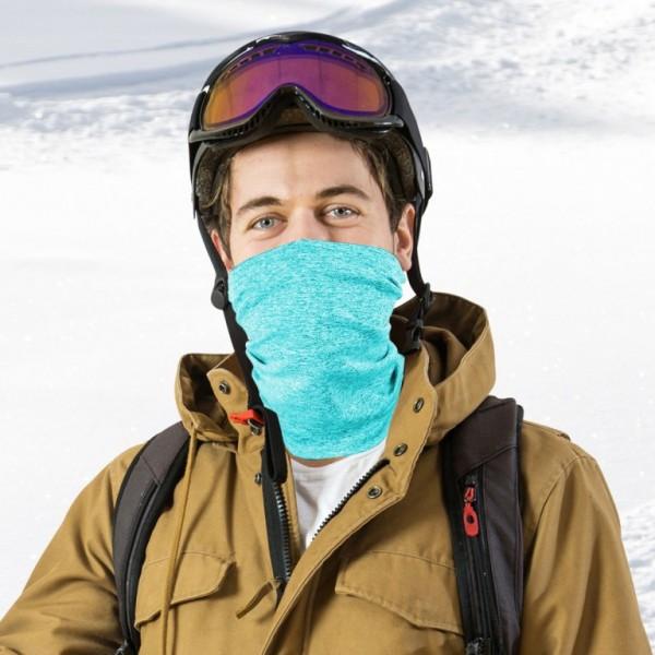 Schlauchmaske aus Stoff, Farbe hellblau, mit Filter