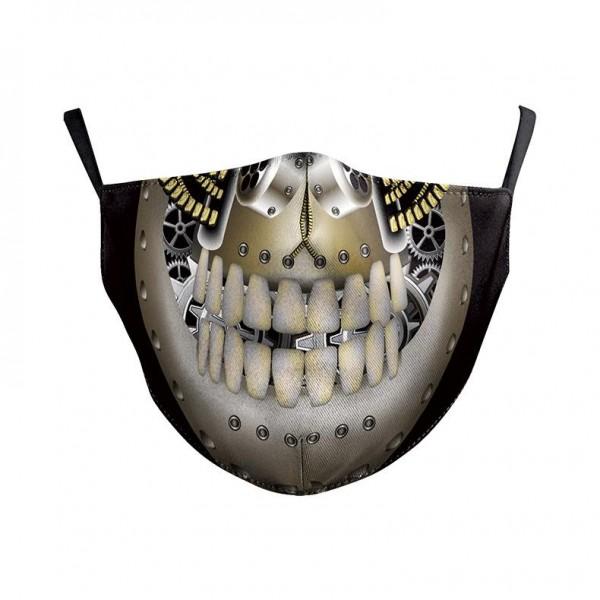 Stoffmaske Mechanical Skull mit Filter