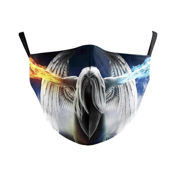 Stoffmaske geheimnisvoller Engel, mit Filter