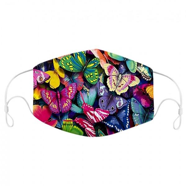 Stoffmaske Schmetterlinge, bunt, mit Filter