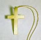 Kreuz an Kette, gold