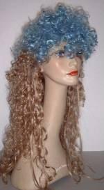 Party-Perücke Sandra blond/blau