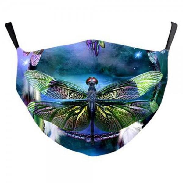 Stoffmaske mystische Libelle, mit Filter