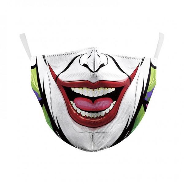 Stoffmaske Comic Clown mit Filter